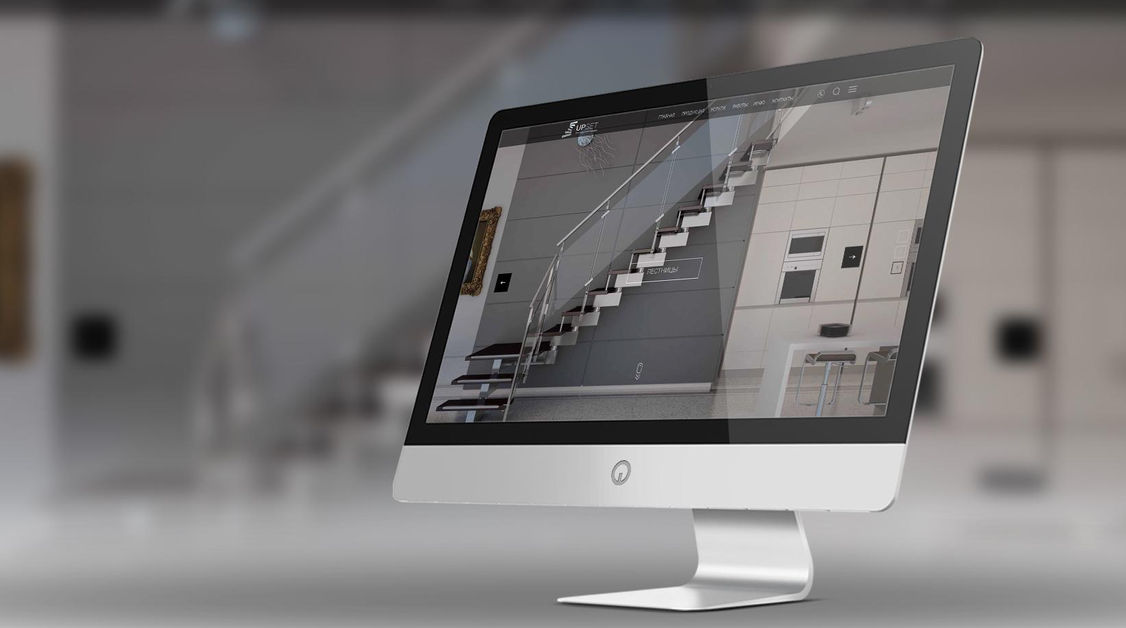 Сайт для продажи дизайнерских лестниц